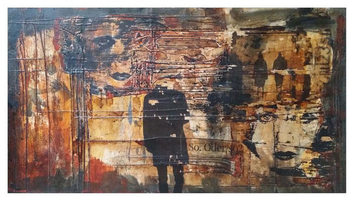 so oder so, Holzbrett 78 x 128 cm
