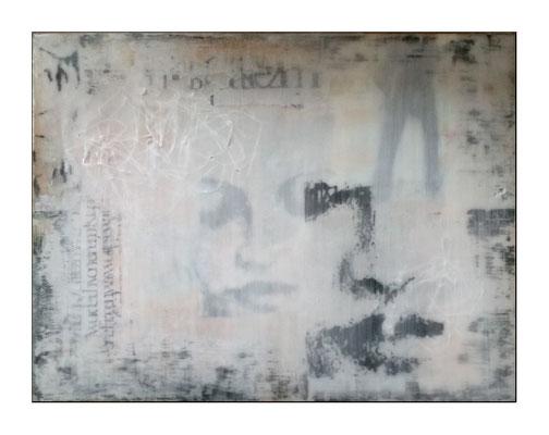 gedanken zum selbst; Pressspanplatte 60 x 80 cm