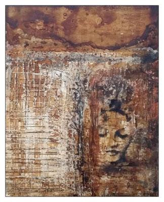 ~ la speranza ~, Holzbrett 40 x 51 cm