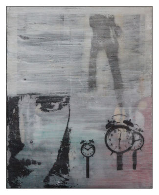 """o.T., aus der Serie """"Alltag""""; Pressspanplatte,  43 x 55cm"""