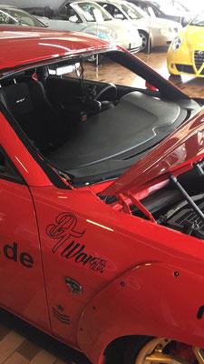 Dodge ohne Windschutzscheibe