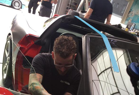 Corvette Arbeiten Windschutzscheibe