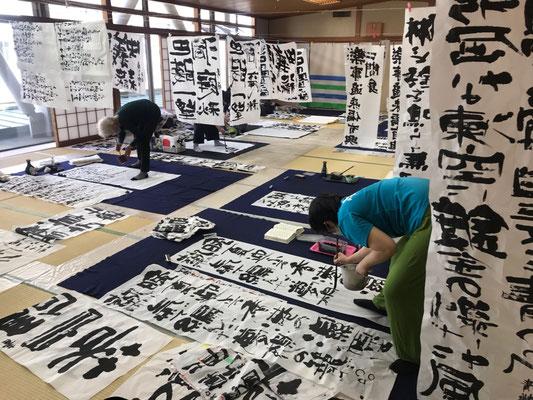東京都北区赤羽の書道教室の研究会の様子