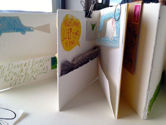 "Jill Calder Illustration - Books - Making Books - ""Letters to Dougal"" - Isle of Skye Workshop"