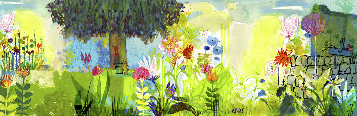 Jill Calder Illustration - Children's Illustration - Garden Detectives - National Museums of Scotland