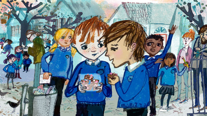 """Jill Calder Illustration - Children's Illustration - """"How to be Harry's Friend"""" for BBC Scotland and BBC Sounds"""