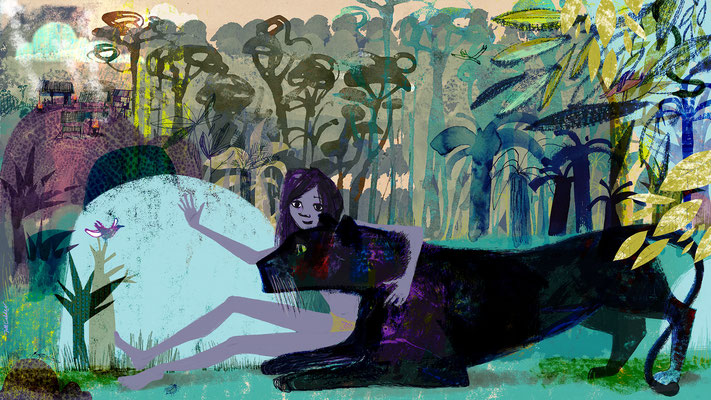 "Jill Calder Illustration - Books - ""The Jungle Book Revisited"" - The Guardian"