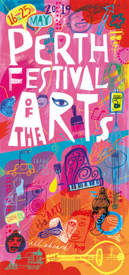 Jill Calder Illustration - Lettering - Perth Festival of the Arts logo and illustration