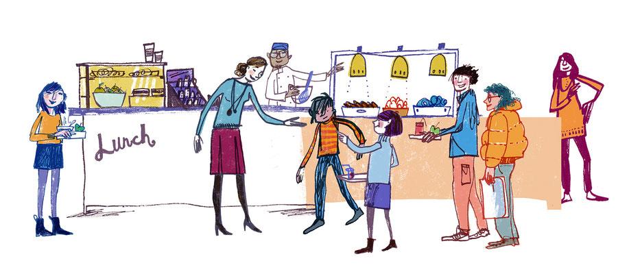 "Jill Calder Illustration - Children's Illustration - ""Lunch Time"" - CAHRU"