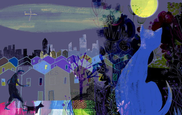 "Jill Calder Illustration - General Illustration - ""Night Prowler"""