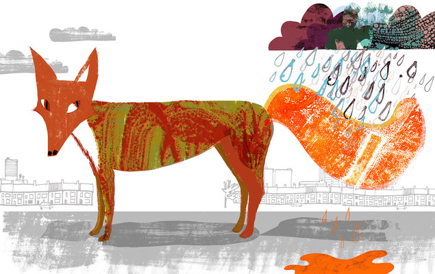 "Jill Calder Illustration - Children's Illustration - ""The Urban Fox"""