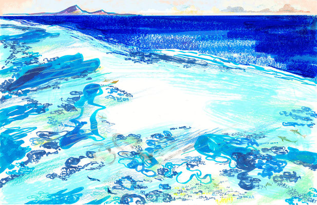Jill Calder Illustration - General Illustration - Shallow Seas and Coastline