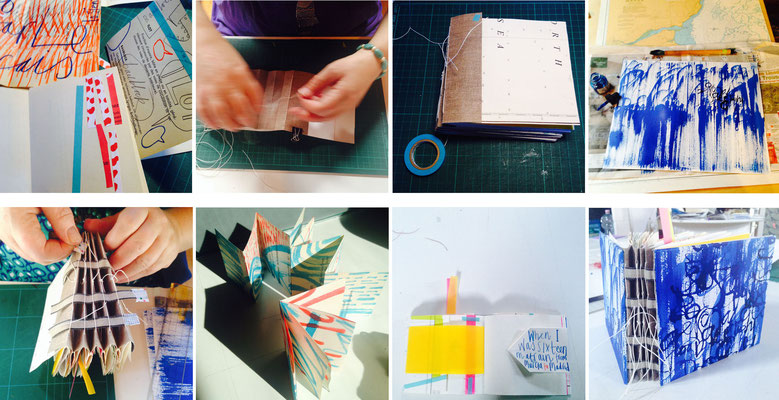 "Jill Calder Illustration - Books - Making Books - ""Personal Geographies"" - Venice Workshop"