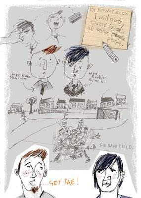 "Jill Calder Illustration - Books - ""Walk the Walk"" by Gowan Calder - Scottish Book Trust"