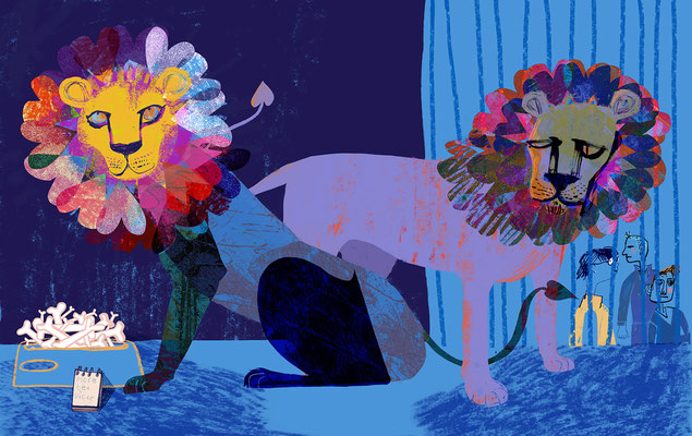 "Jill Calder Illustration - General Illustration - ""Lion Food"""