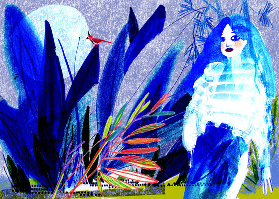 Jill Calder Illustration - General Illustration - Indigo Girl