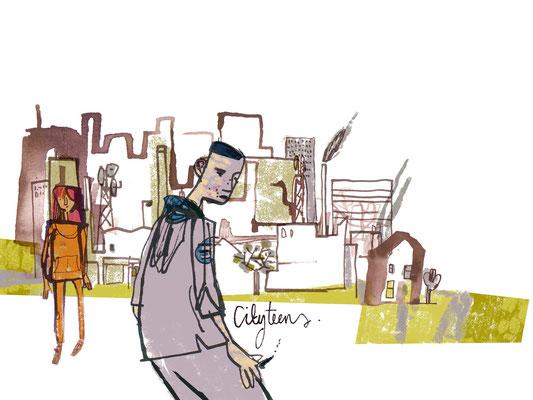 Jill Calder Illustration - Children's Illustration - City Teens