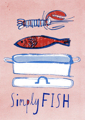 "Jill Calder Illustration - General Illustration - ""Little Black Book of Seafood"" - First Great Western"