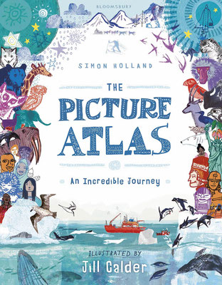 "Jill Calder Illustration - Books - ""The Picture Atlas"" by Simon Holland - Bloomsbury"