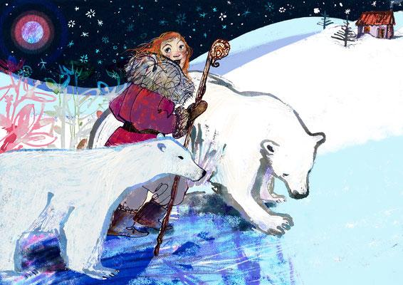 "Jill Calder Illustration - Children's Illustration - ""A Winter Tale"""