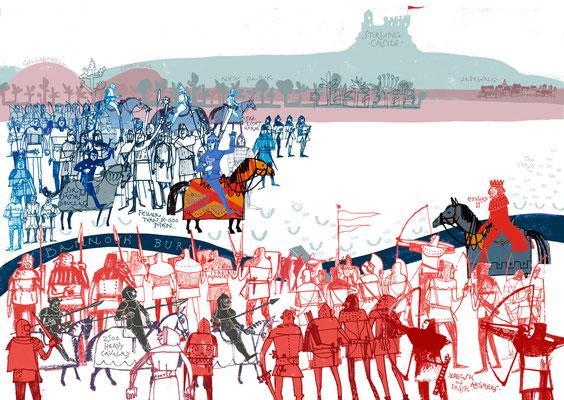 "Jill Calder Illustration - Books - ""Robert The Bruce"" by James Robertson - Birlinn"