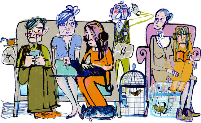 "Jill Calder Illustration - General Illustration - ""Sandwich Generation"" - The Guardian"