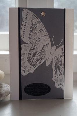 Kondolenzkarte mit Swallowtail - Patricia Stich 2015