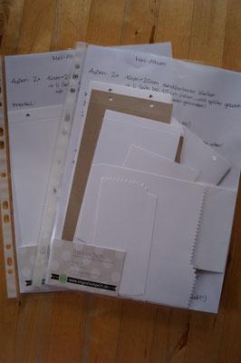Zweiter und dritter Preis: Je ein Materialpaket für ein Minialbum