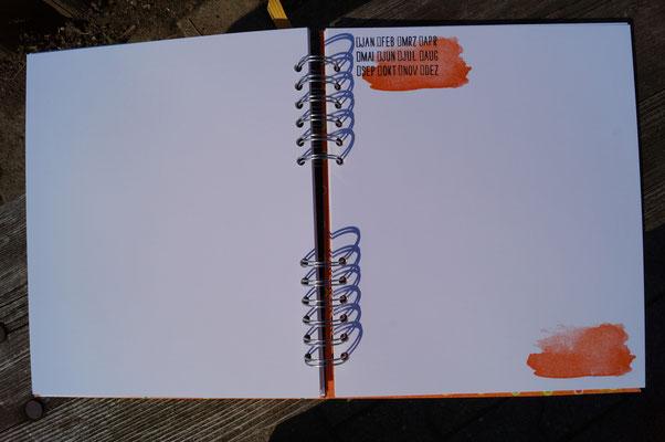 Mit Mini-Kalender, um den Monat der Aufnahme anzukreuzen - Patricia Stich 2015