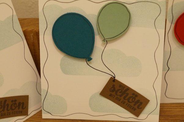 Luftballons von Stampin´Up! - Patricia Stich 2016