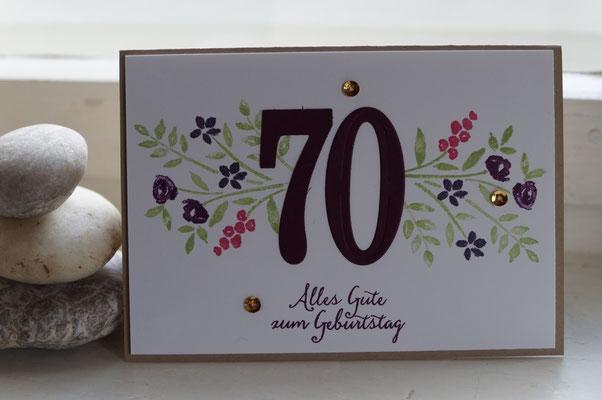 Karte zum runden Geburtstag - Patricia Stich 2016