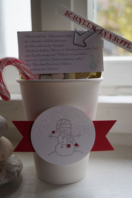 Schneemannsuppe, Becher to go, Stampin´Up! - Patricia Stich 2015