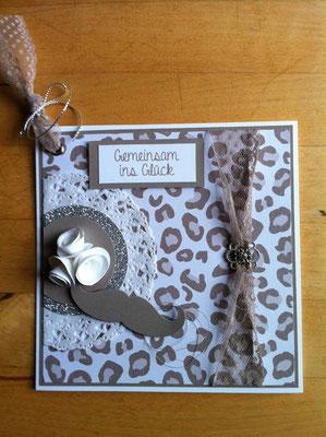 Hochzeitskarte im Leopardenlook! -Patricia Stich 2015