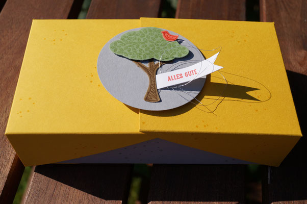 Schachtel mit zwei Deckelseiten zum Aufklappen - Patricia Stich 2015