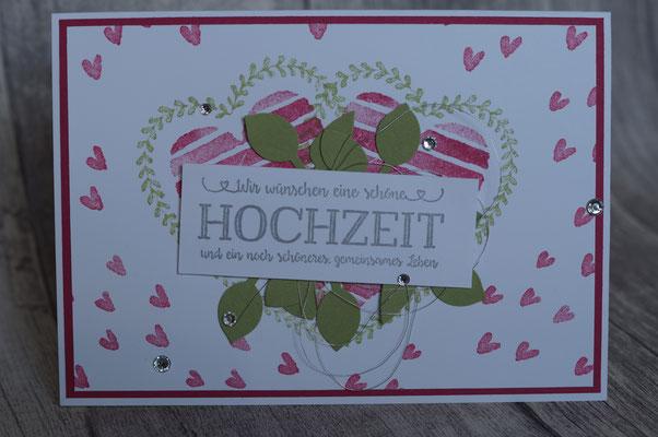 Die neuen Herzen sind so wunderschön - Hochzeitskarte, angestempelt 2018
