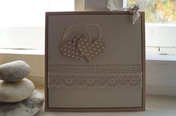 Besondere Hochzeitskarte in Brauntönen - Patricia Stich 2015