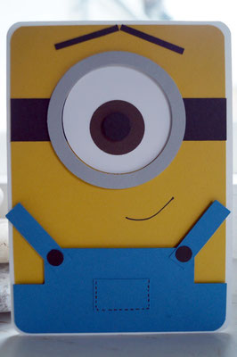 Minion in Kartenform - Patricia Stich 2015 Stampin´Up!