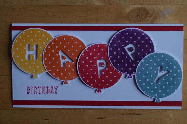 Knallige Luftballons zum Geburtstag - Patricia Stich 2015