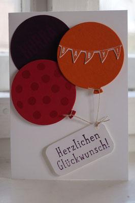 Glückwunsch zum Baby mit Ballons - Patricia Stich 2015