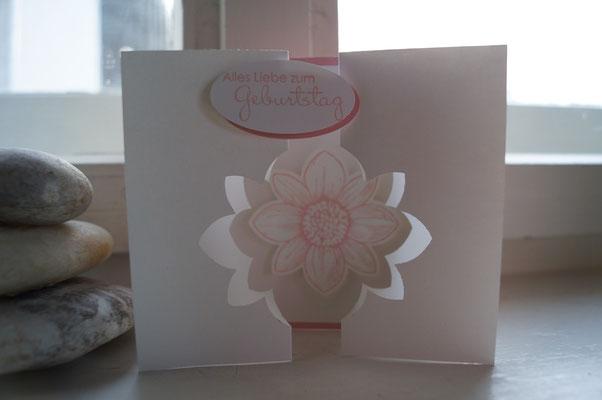 Geburtstagskarte kirschblüte - Patricia Stich 2015