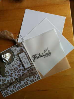 Aufgefächerte Hochzeitskarte - Patricia Stich 2015