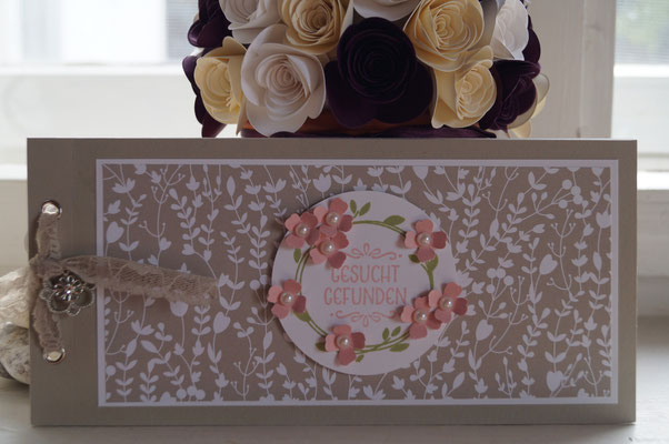 Hochzeitskarte in krischblüte und farngrün - Patricia Stich 2015