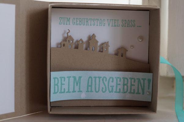 Verpackung für einen Gutschein - Patricia Stich 2016