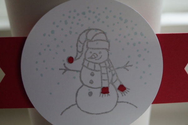 So ein süßer Schneemannstempel von Stampin´Up! - Patricia Stich 2015