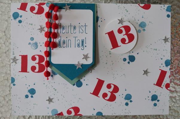 Geburtstagsplakat an der Tür - Patricia Stich 2016