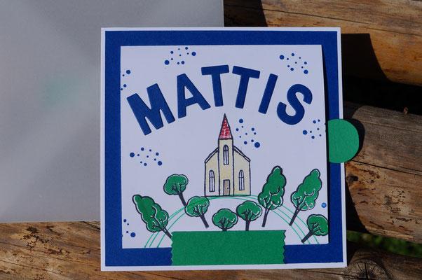 Unikat für Mattis zur Kommunion - Patricia Stich 2018