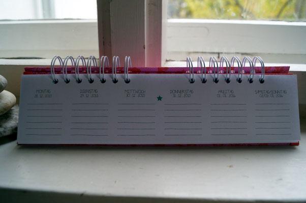 Selbstgemachter Wochenkalender - Patricia Stich 2015