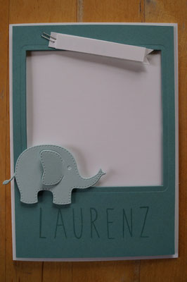 Jungen-Babykarte, Geburtskarte - Patricia Stich 2015