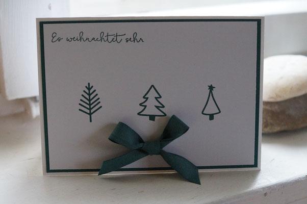Ohne Weihnachtskarte geht nix am Kids-Workshop!