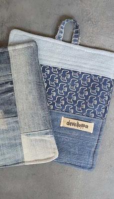 Topflappen aus alten Jeans (develloppa)